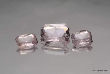 Loose Peach Sapphires