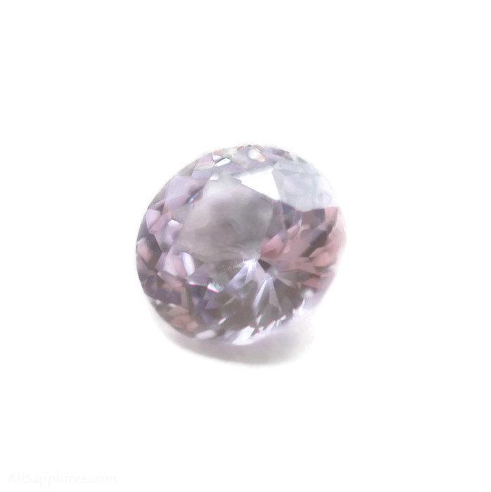 round peach pink sapphire