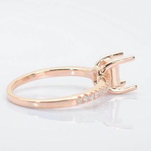 rose gold diamonds ring