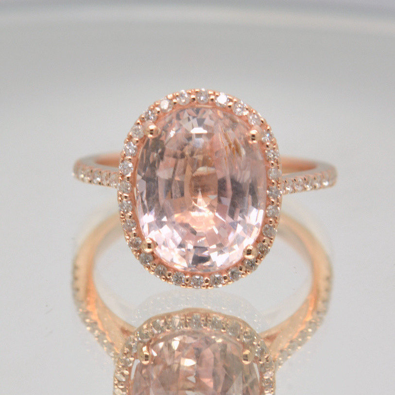 Certified untreated 765 carts champagne peach sapphire rose rose peach sapphire engagement ring junglespirit Choice Image