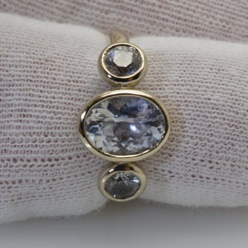 White gold bezel ring