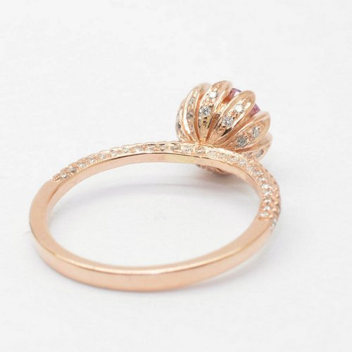 rose gold engagement ring - Lotus Wedding Ring