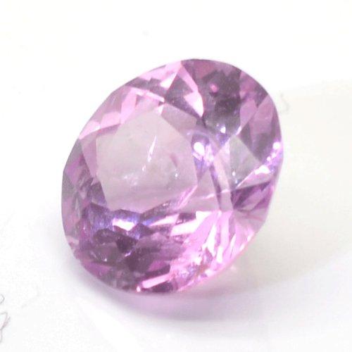 Round peach sapphire