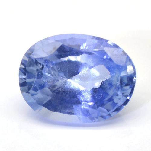 untreated Oval blue sapphire