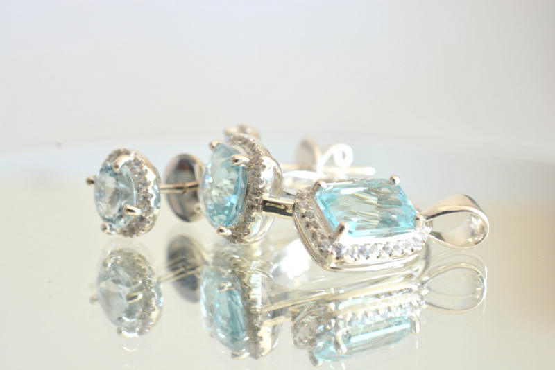 four part aquamarine set aquamarine