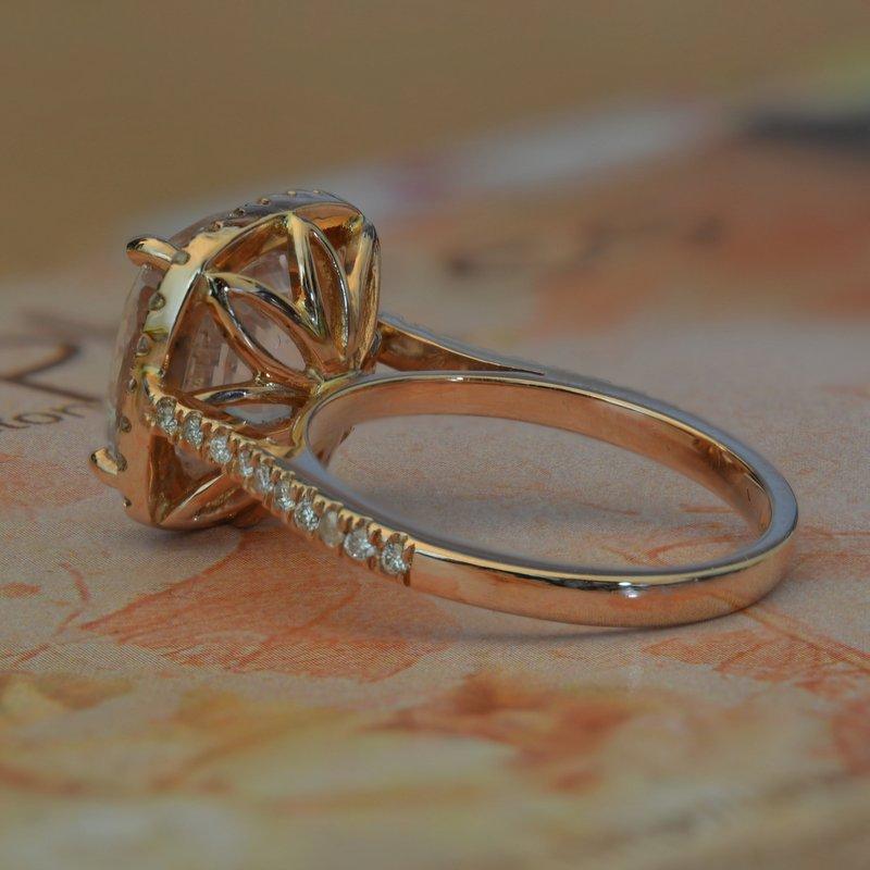 peach engagement ring