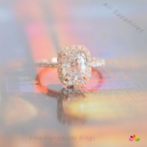 peach sapphire rose gold sapphire engagement ring