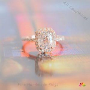 peach sapphire rose gold sapphire engagement ring