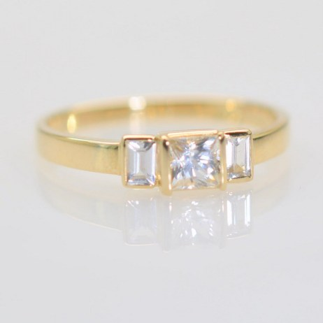 yellow gold art deco ring