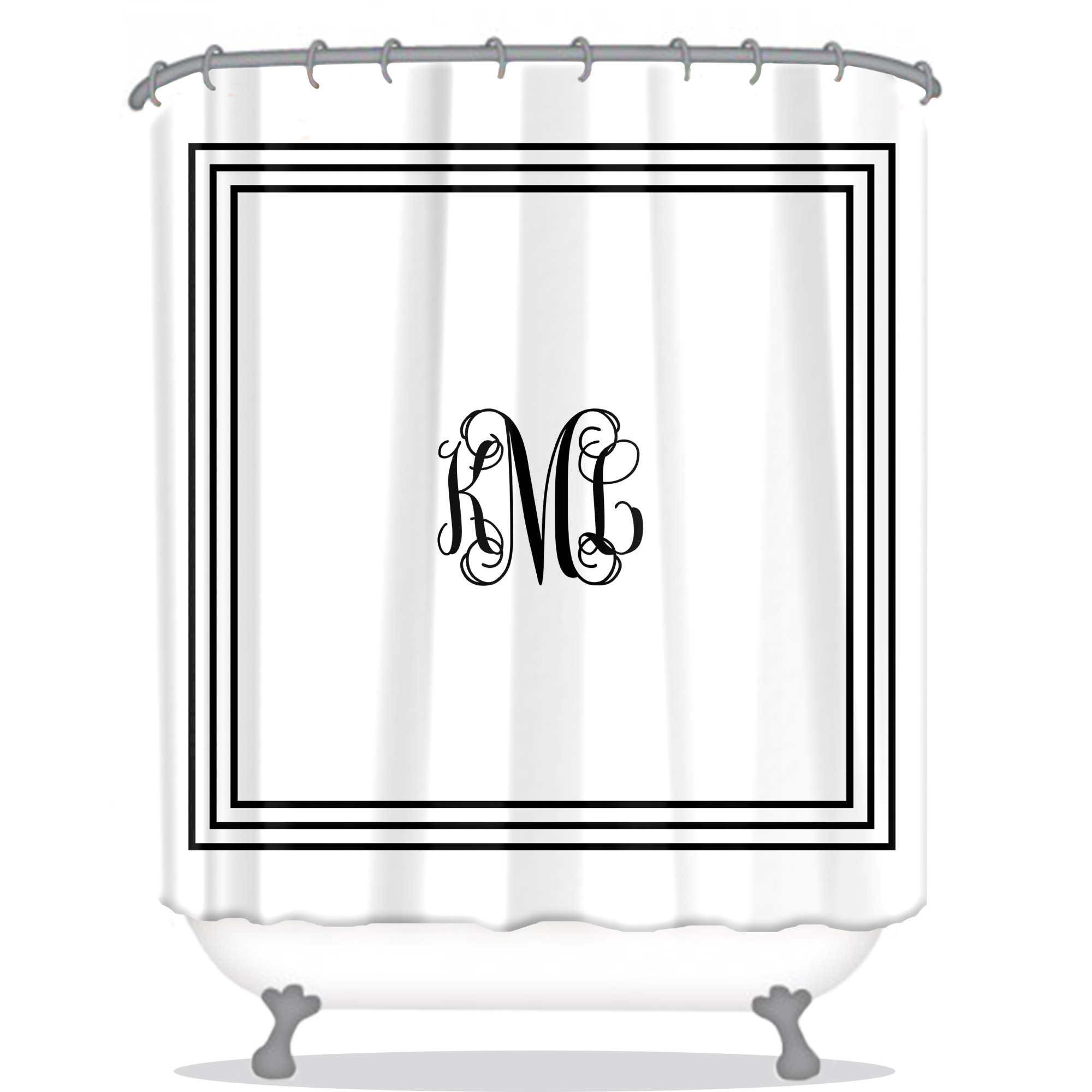personalized shower curtains all
