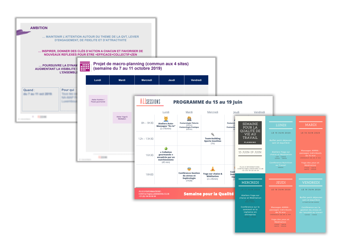 Exemple de programme Semaine pour la QVT 2020