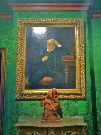 Victor Hugo's portrait inside his apartment