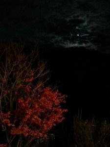 Full moon at night over Healience resort