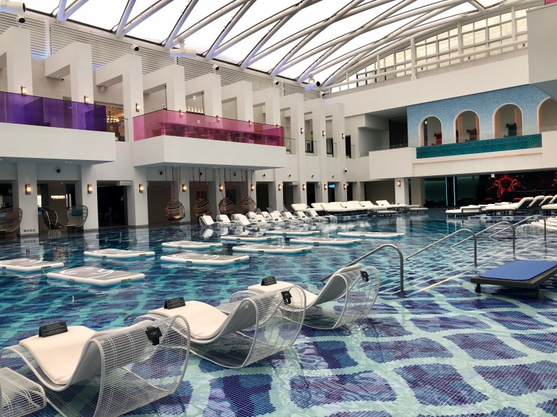 indoor pool area at Paradise Seoul