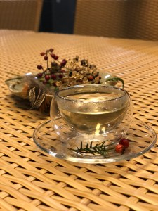 tea ceremony at WE hotel in Jeju Island