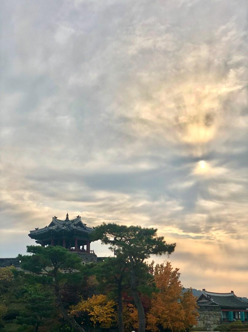 hills on lake in Seoul
