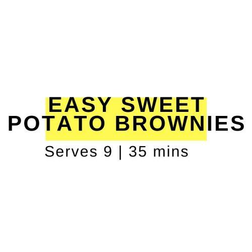 easy sweet potato brownies