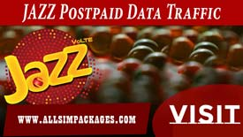 JAZZ POSTPAID DATA TARIFFS