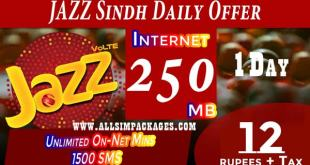 JAZZ SINDH DAILY OFFER