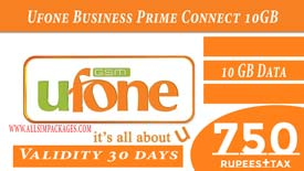 Ufone Business Prime Connect 10 GB