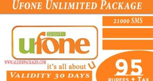 UFONE UNLIMITED PACKAGE