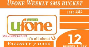 UFONE Weekly SMS Bucket