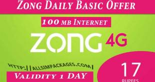 Zong Daily Internet Package