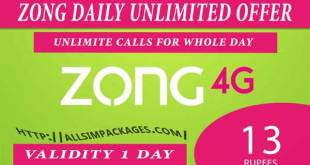 zong daily unlimited call offer
