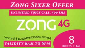 zong sixer offer