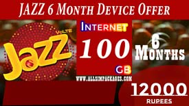 JAZZ 6 Months DEVICE OFFER