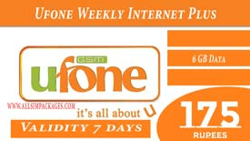 UFONE WEEKLY INTERNET PLUS