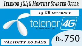 telenor 3G/4G Monthly Starter Offer
