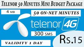 telenor 50 minutes mini budget package