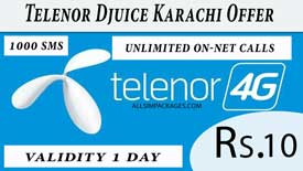 telenor djuice karachi offer