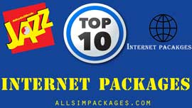 jazz top 10 internet packages
