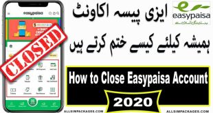 How to Delete the Easypaisa Account