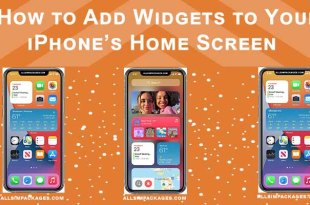 How to add widegets to your iphone's home screen