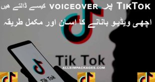 how to put voice over on Tiktok