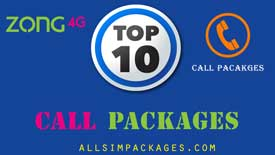 top 10 zong call packages