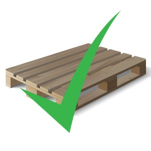 repaired used wood pallet