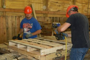 custom pallet manufacturing at All Size Pallets
