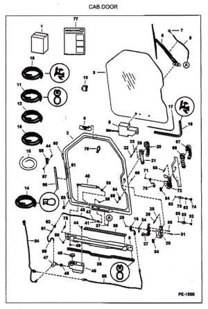 Bobcat Door Parts & BOBCAT 6715157 REAR BACK DOOR STRIKER 863 864 873 963 7753 T200 LATCH Sc 1