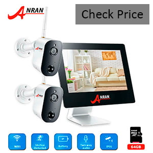 Wireless Security Camera System ANRAN with 2 Pro Cameras and a Rechargeable Battery review