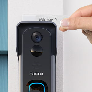 Doorbell Camera Wi-Fi with Motion Detector, 32GB Micro SD Card by BOIFUN review