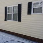 Clean, Pressure Washed Siding