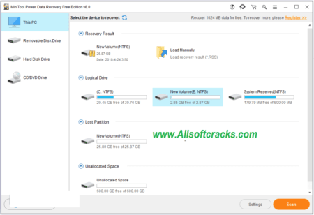 MiniTool Power Data Recovery 8.7 Crack With Product Key 2020 Download