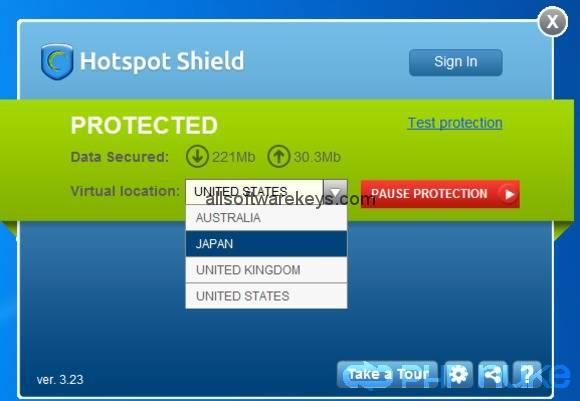 hotspot shield key code