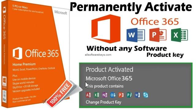 How to Activate Office 365 for free + Product Key
