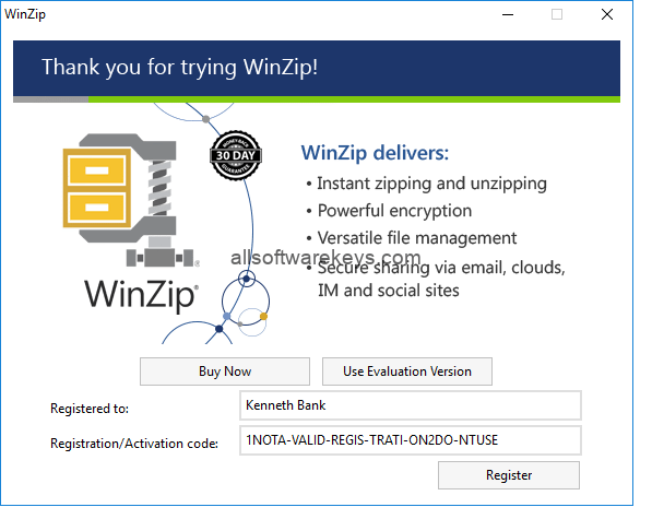 how to crack winzip using activation code