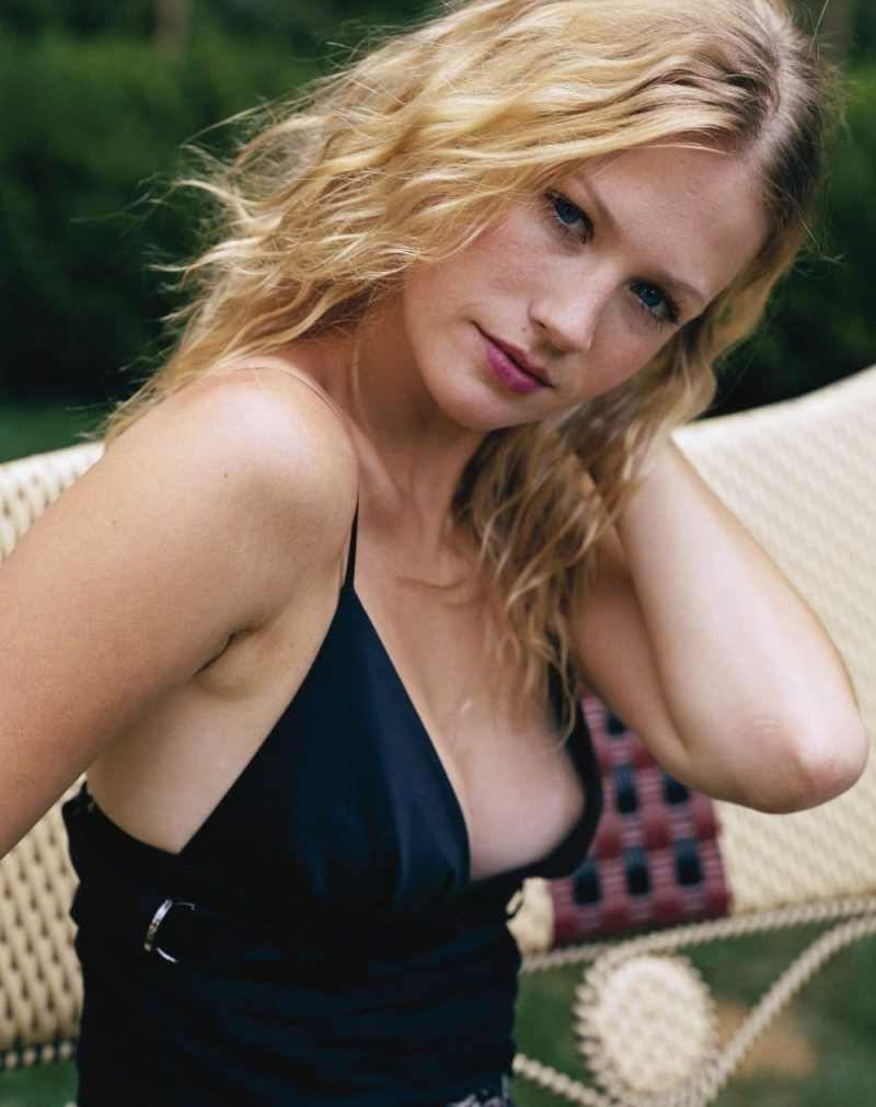 January Jones Nip Slip and See Through Photos